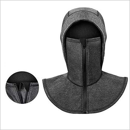- Tckoudai Warm and Windproof Hood, Riding Mask Winter Outdoor Plus Velvet Bib Cold Smog Masks for Men and Women Zipper,56/62Cm