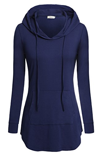 Rayon Women Sweatshirt (Bepei Women Clothing, Long Sleeves Casual Yoga Maternity Plus Size Shirts Blue M)