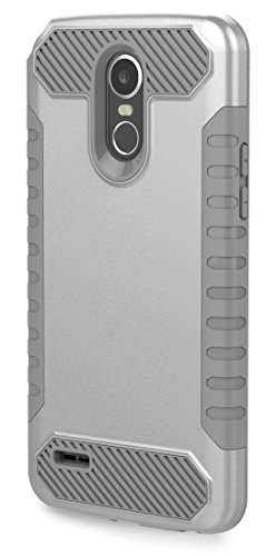 LG Stylo 3 Case, LG Stylo 3 Plus Case, Moment Dextrad [Non-slip Grip] [Dual Layer] Shockproof Slim Anti-Scratch Heavy Duty Protection Case Cover for LG Stylo 3 / LG Stylo 3 Plus (Silver / Gray) (Cases For Phone Lg Boost Mobile)