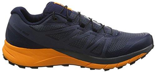 Salomon Sense Ride, Stivali da Escursionismo Uomo Blu (Navy Blazer/Bright Marigold/Ombre B 000)