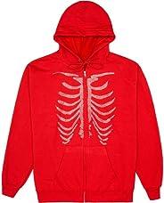 Rhinestone Graphic Zip Up Hoodies for Women Oversized Y2k Sweatshirt Jacket E-Girl 90s Pullover Streetwear