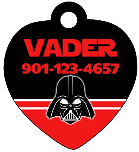 Disney Star Wars Darth Vader Mask Pet Id Tag for Dogs & Cats Personalized w/ Name & Number ()