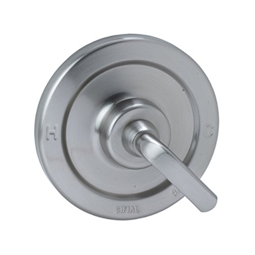 Cifial 295.605.620 Stone Mountain Pressure Balance Shower Valve Trim with Lever Handle, Satin Nickel - Cifial Stone