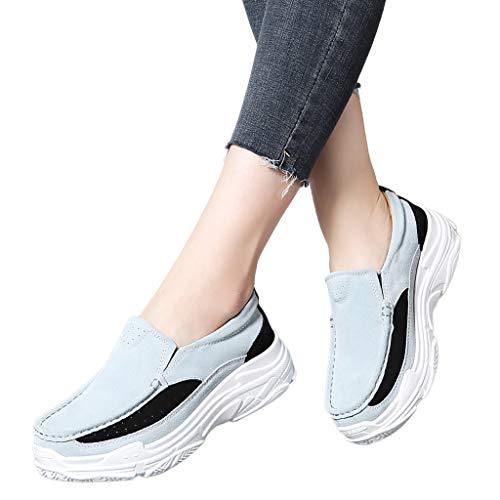 Nuovi Ginnastica Sport Zeppa Casual Respirante 2019 Sneakers Ragazza Moda Donna Stampa Pigire Women Pu Ihengh Shoes Rete Pantofola Vintage Scarpe Estate Running Grigio Scarpa Francesina YqEnxa
