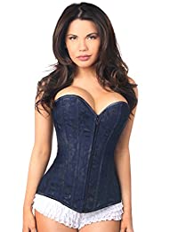 DaisyCorsets Womens Lavish Lace Overbust Corset W/Zipper