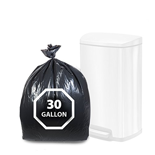 "Dualplex Tall Kitchen Trash Bags 30 - 33 Gallon 100 Count Black Garbage Bag 33"" X 39"""