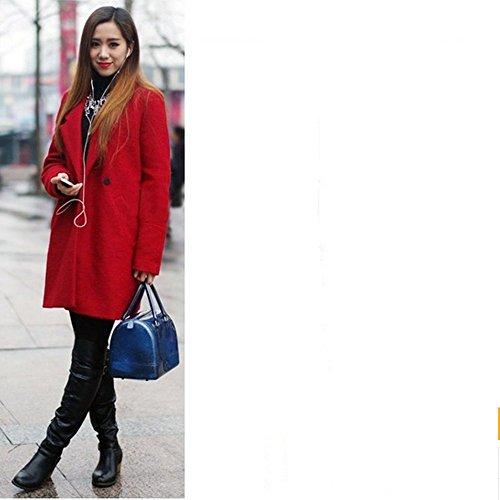Eysee - Bolso de tela para mujer Rojo rosa 26cm*18cm*10cm. plata