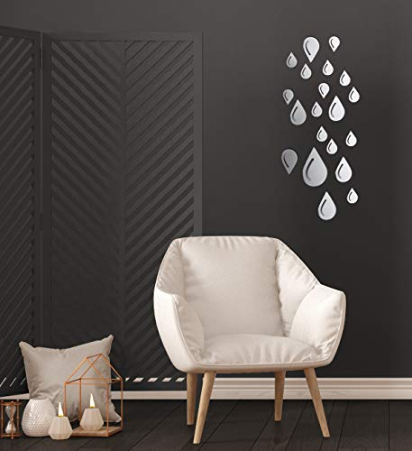 Wall Decals - Wall Décor - Mirror Wall Stickers - Rain Wall - Mirrors Of Bathroom Different Styles
