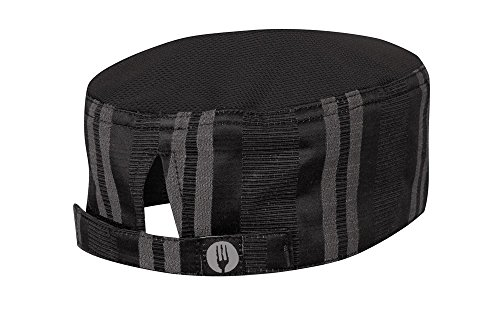 Chef Works Unisex Presidio Cool Vent Chef Beanie, Black/Gray, One Size (Head Chefs Cool Tools)