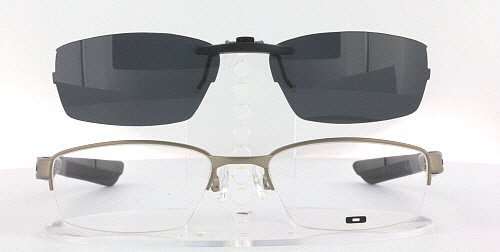 OAKLEY DOUBLE-TAP-OX3123-53X18 POLARIZED CLIP-ON SUNGLASSES (Frame NOT - Lens Sunglasses Oakley Double