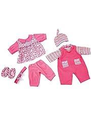 Bayer Design- Ropa para muñecas de 42-46 cm, Conjunto Verano, Vestido y Peleles, Color Rosa (84619AA)