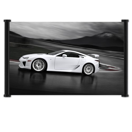 Lexus LFA Exotic Sports Car Fabric Wall Scroll Poster  Inche