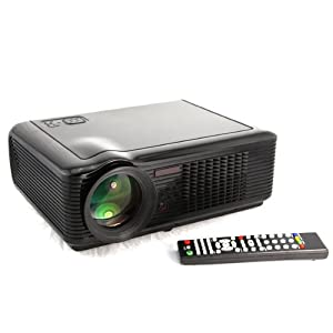 Htp led 66 projector full hd 15 degree for home cinema for Hd projector amazon
