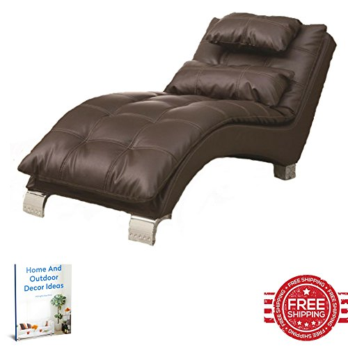 Living Room Chaise Lounge Chair Indoor Slipcover Sleeper Modern Fainting Cushions Upholstered Reclining Contemporary Furniture & E book (Indoor Chaise Chair Cover)