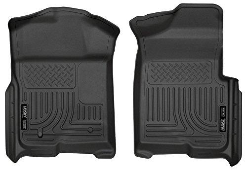4 Tan Floor Door Front (Husky Liners Front Floor Liners Fits 09-14 F150 SuperCrew/SuperCab/Standard)