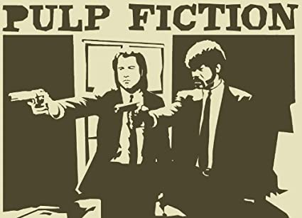 Posterhouzz Movie Pulp Fiction HD Wallpaper Background Fine Art Paper Print Poster MOV1790