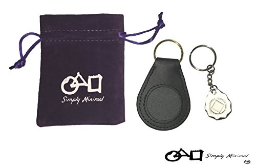 3 PACK - Premium NA/AA Simply Minimal ™ Recovery Token Coin Holder Birthday Medallion Custom Made Metal Keychain & Purple Velvet Pouch