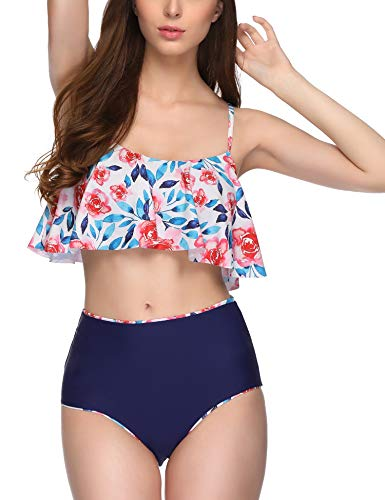 Floral High Waisted Bikini Set in Australia - 2