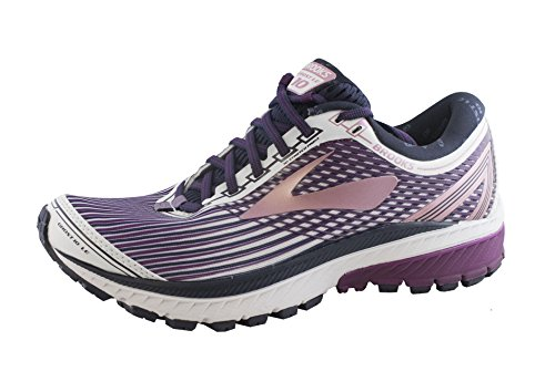 c953ad8deb3a8c Galleon - Brooks Women s Ghost 10 Running Shoe White Purple Rose Size