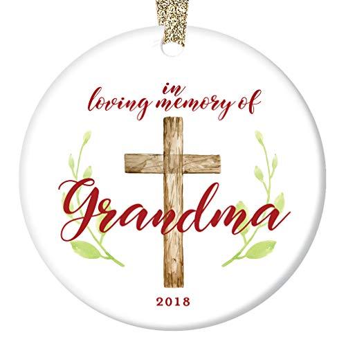 Loving Memory Grandma Ornament 2018 Christmas Remembering Grandmother Grandmom Nana Mom-Mom Ceramic Collectible Memento 3