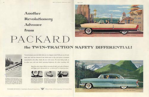 Twin-Traction Differential Packard Caribbean Convertible & Clipper ad 1956 - Traction Differential