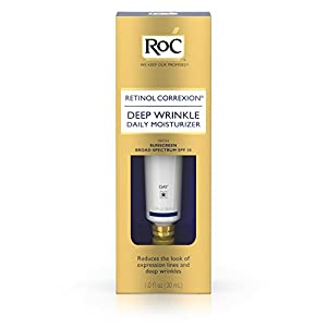 Roc Retinol Correxion Deep Wrinkle Treatment Daily Moisturizer With Sunscreen Broad Spectrum spf 30, 1 Oz.