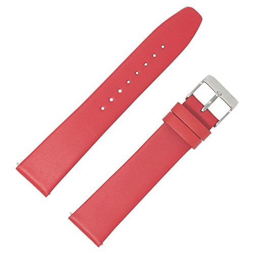 Dakota Women's Mechanical Hand Wind Metal and Leather Watch, Color:Red (Model: 18636)