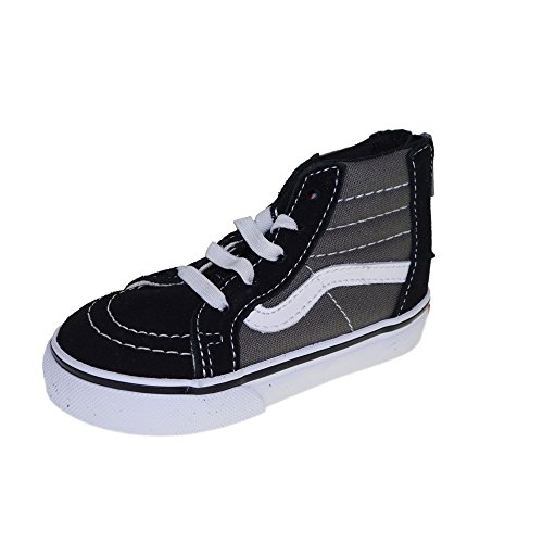 Vans Sk8-Hi Zip (2 Tone) Charcoal Toddler Size 6