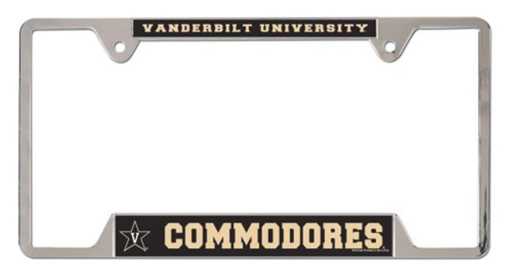 WinCraft NCAA Vanderbilt University Metal License Plate Frame