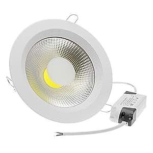 Ledtcx 15W 1xCOB 1400-1500LM 6000-7000K Cool White Light LED Round Ceiling Lights (AC 85-265)