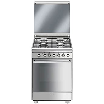 Smeg CX61GV9 - Cocina (Independiente, Acero inoxidable, Giratorio ...