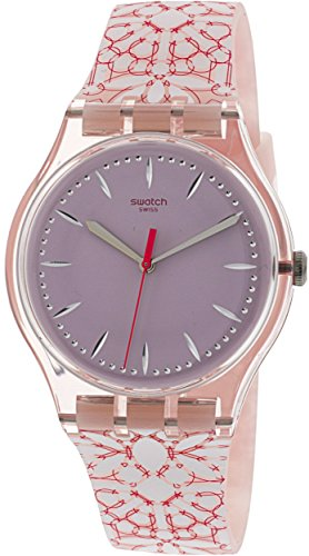 Swatch Women's Fleurie SUOP109 Pink Silicone Swiss Quartz Fashion Watch