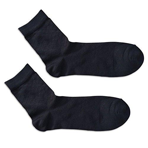 APA Lifestyle Premium Silk Dress Socks (Men 7~10/Women 7~11, Black Argyle)
