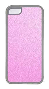 Customized Case Pink traces TPU Transparent for Apple iPhone 5C