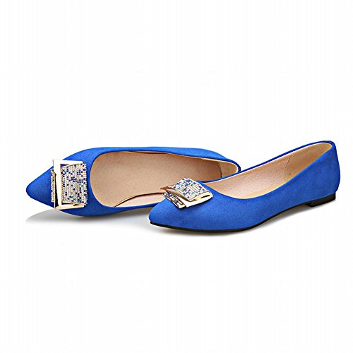 Charme Pied Femmes Mode Strass Appartements Chaussures Chaussures Chaussures Bleu