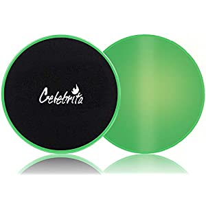 Well-Being-Matters 419-FqPYJ4L._SS300_ Celebrita Pair of Gliding Discs Core Sliders Ab, Back, Hip, and Leg Exercise Gear for Gym, Home, Yoga, Pilates…
