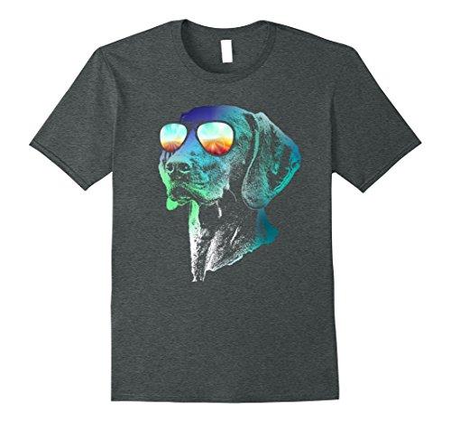 Mens Vizsla Neon Dog Shirt Medium Dark Heather
