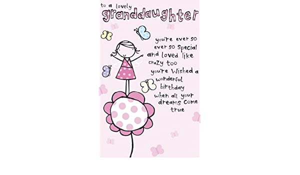 Amazon Cute Granddaughter Birthday Card Office Products