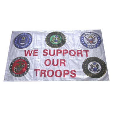 We Support Our Troops Military Pride Flag 3x5 Feet