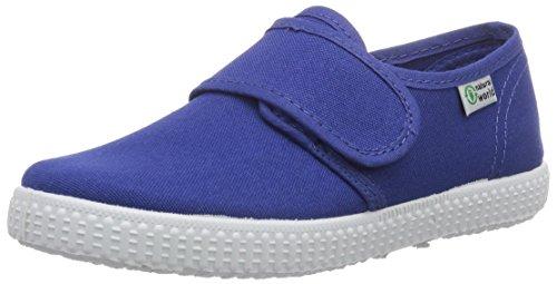 Natural World Blucher Velcro - pantuflas con forro Niños azul - azul