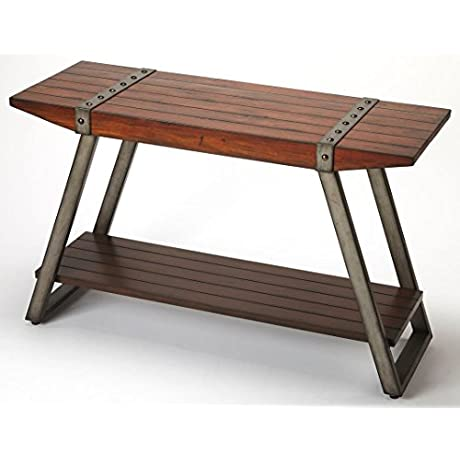 Lamont Console Table In Distressing Brown 797136