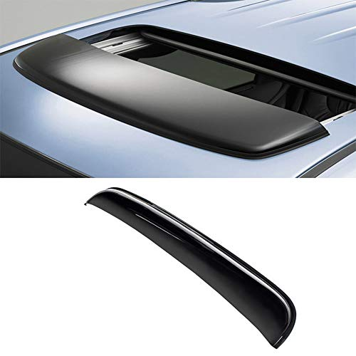 "A&K 1 pcs 34"" Sunroof/Moonroof Roof Visor Universal for Truck SUV All Vehical Dark Smoke Tint Reinforced Acrylic Top Sun/Rain Wind Deflector with 3M Tape Direct Tape On"