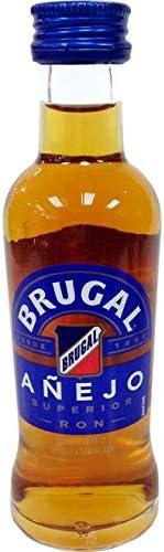 Botellita Miniatura Ron Brugal Añejo