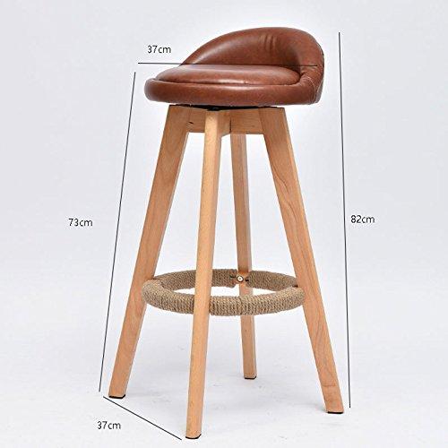 ソリッドウッドの背もたれの椅子、近代的なミニマリストローテーションハイチェア ( Color : Brown ) B07BLWZ6T2 Brown Brown