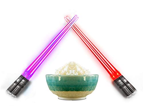 Lightsaber Light Up Chopsticks Led Chopstick, 2-Pairs, Purple & Red by Chopsabers