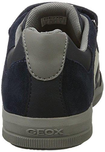 Geox J Arzach a, Zapatillas Para Niños Azul (Navy/grey)