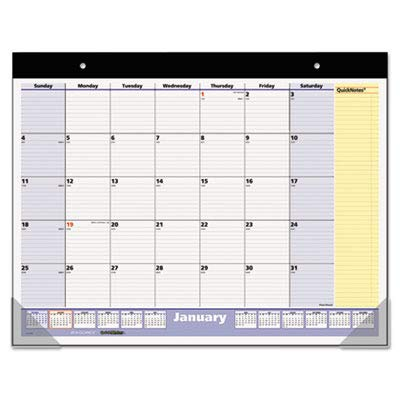 AT-A-GLANCE QuickNotes Non-Refillable 13-Month Desk Pad per Wall Calendar for 2009, 22 x 17 Inches (SK700-00) 2010 Monthly Desk Pad