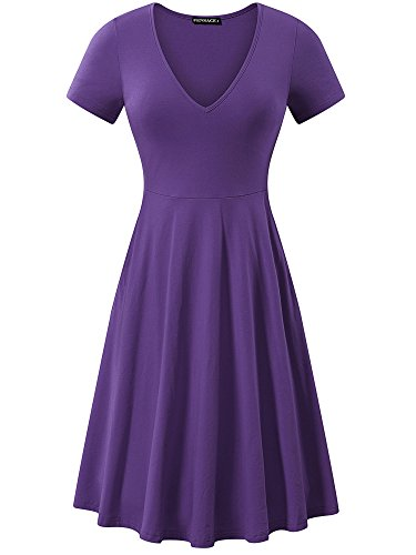 FENSACE Daphne Costume Dinner Party Purple Dress with Sleeves