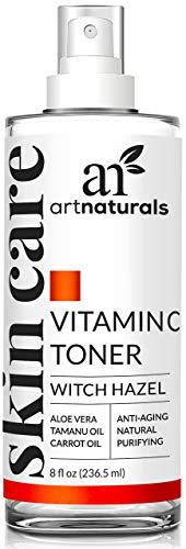 ArtNaturals Vitamin C Hydrating Facial Toner Organic Ingredients including  Aloe Vera, Witch Hazel, Tea Tree and MSM, Anti Aging Pore Minimizer for