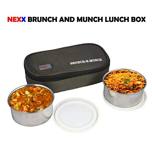 Nexx Brunch   Munch Lunch Box with Bag, 2 Containers  Green